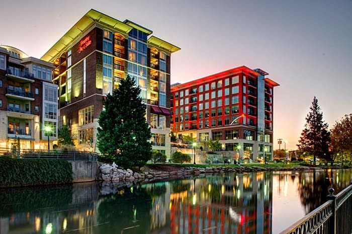 The Hampton Inn & Suites by Hilton Greenville Downtown at RiverPlace